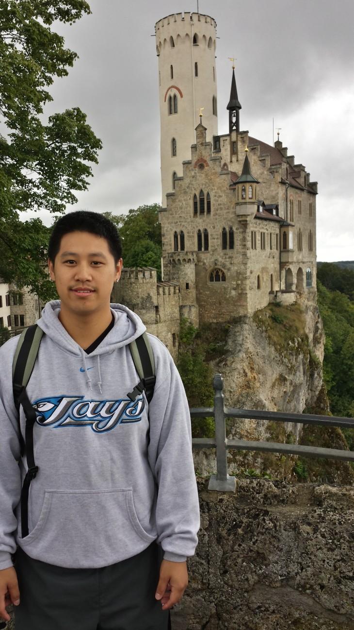 Hiking up to Schloss Lichtenstein