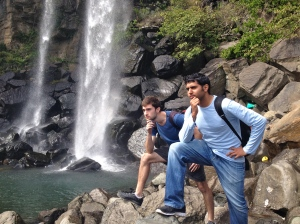 Myself and Aussie mate Brandon tried posing like Captain Morgan!
