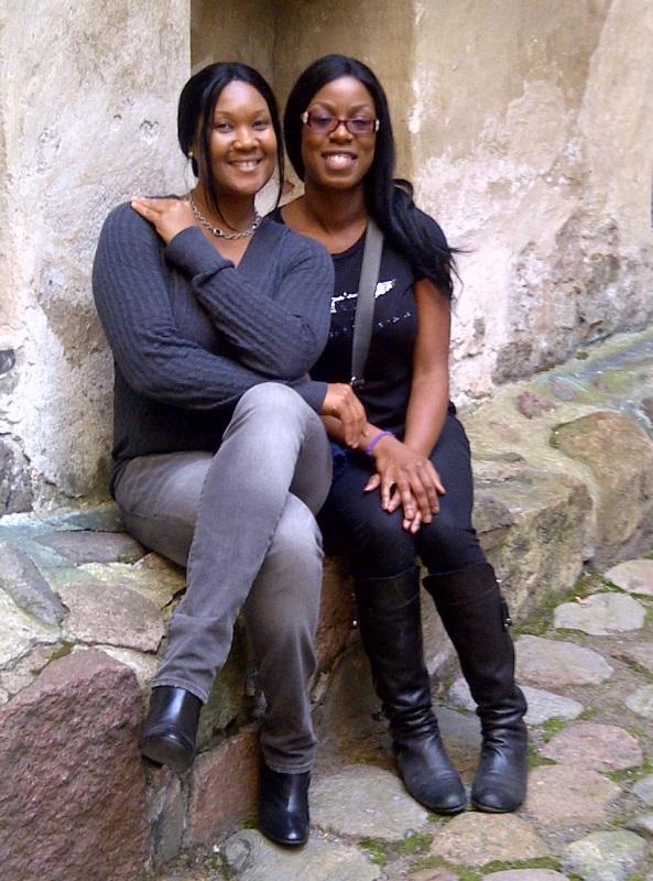Melissa and Janice at Turku Castle Tour