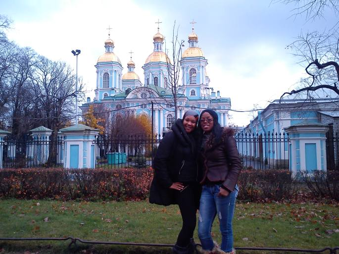 Melissa and Janice in St. Petersburg, russia