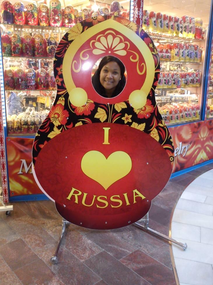 Janice in Russia
