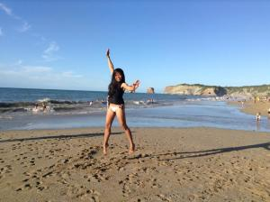Jumping! Just coz Im in France..