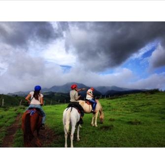 Enjoying this view while riding horses
