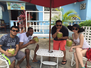 1st day Coconut with my boys