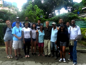 GCELE group with farmer and wife