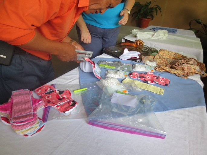 Even the Pastor was working with us making the menstrual pads. A big THANK YOU to you Sir :)