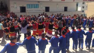 Dancing the Yi traditional dance