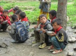 Students having lunch in Butuo