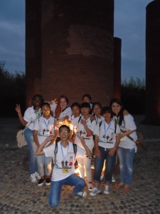 My group and I at Torch Square.