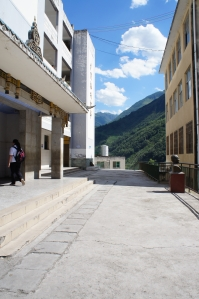 Outside of Emma's school in Butuo County, Sichuan Province, China.