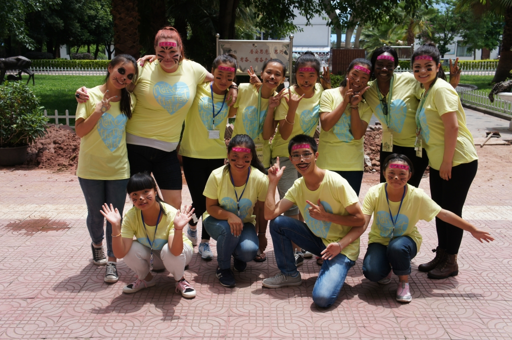 Our group on our last day together. Our t-shirts say,