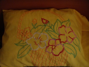 Pillow embroidery
