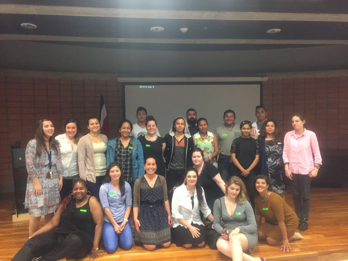 Indigenous Costa Rican Students and Centennial College Team