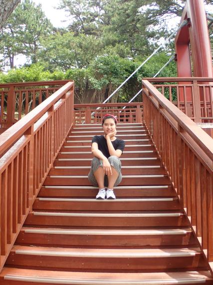 Chi outside Nurimaru APEC House