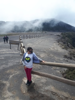 Oh, just casually standing on top of A VOLCANO!