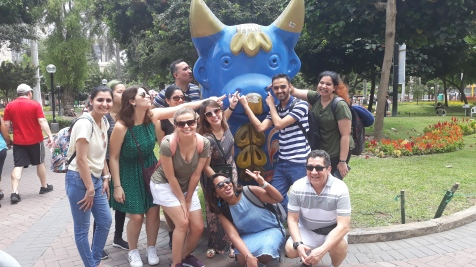 Famous Lima bull statue